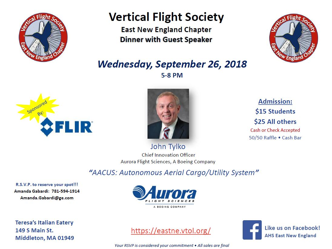 Vertical Flight Society East New England Chapter event 9-26-2018